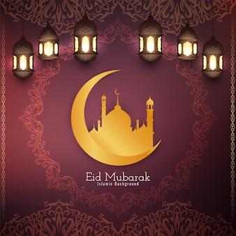 Abstrakcjonistyczny eid mubarak islamski tło