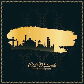 Abstrakcjonistyczny elegancki eid mubarak religijny tło