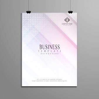 Abstrakcjonistyczny elegancki geometryczny biznesowy broszurka szablonu projekt