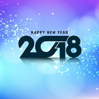 Abstrakcjonistyczny elegancki rozjarzony nowego roku 2018 tło