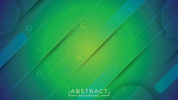 Abstrakcjonistyczny elegancki tło z zielonym natura kolorem
