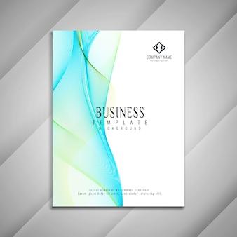 Abstrakcjonistyczny falisty biznesowy broszurka szablonu projekt