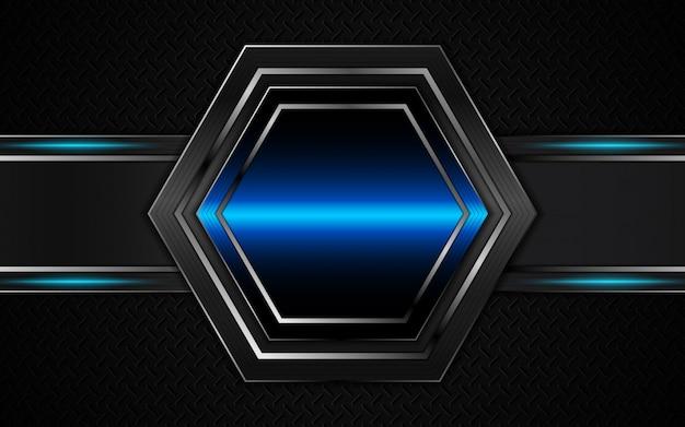 Abstrakcjonistyczny futurystyczny czarny i błękitny tło