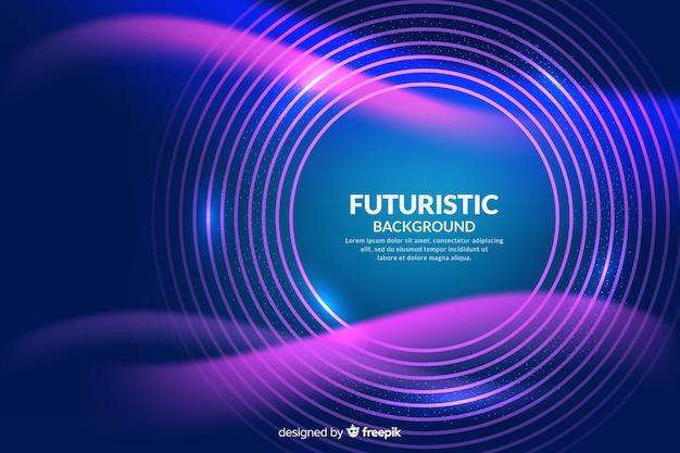 Abstrakcjonistyczny futurystyczny neonowy tło