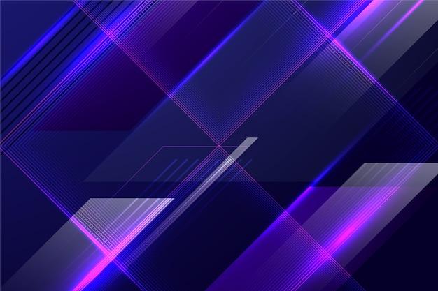 Abstrakcjonistyczny futurystyczny tło z kolorowymi liniami