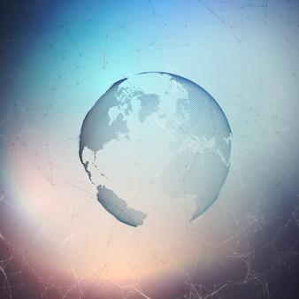 Abstrakcjonistyczny futurystyczny ziemski kształta tło