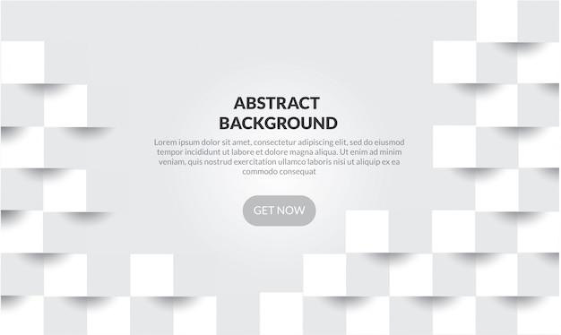 Abstrakcjonistyczny geometryczny biały i szary koloru tło,
