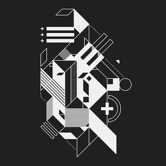 Abstrakcjonistyczny geometryczny element na czarnym tle. przydatny do wydruków i plakatów.