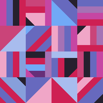 Abstrakcjonistyczny geometryczny kształt dekoraci bezszwowy wzór. nowoczesna mozaika