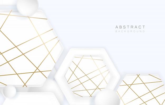 Abstrakcjonistyczny geometryczny kształt z białym lub szarym tłem.