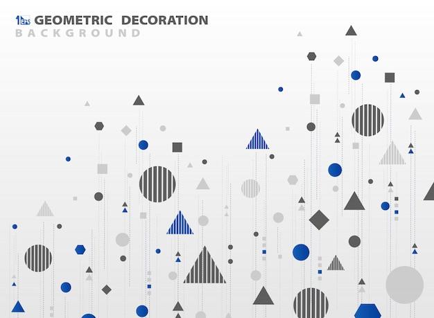 Abstrakcjonistyczny geometryczny kształta projekta tło