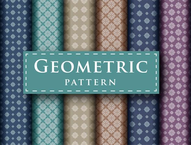 Abstrakcjonistyczny geometryczny luksusowy projekt bezszwowa deseniowa kolekcja