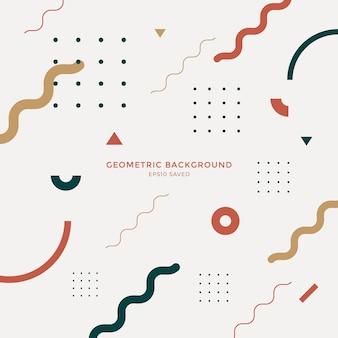 Abstrakcjonistyczny geometryczny nowożytny kształtów tło