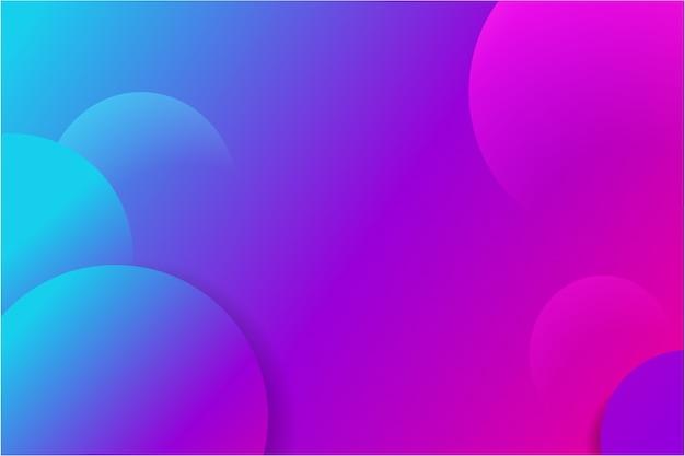 Abstrakcjonistyczny geometryczny tło z purpurowymi i błękitnymi gradientowymi okręgami