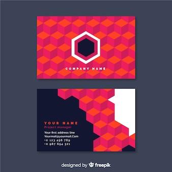 Abstrakcjonistyczny geometryczny wizytówka szablon