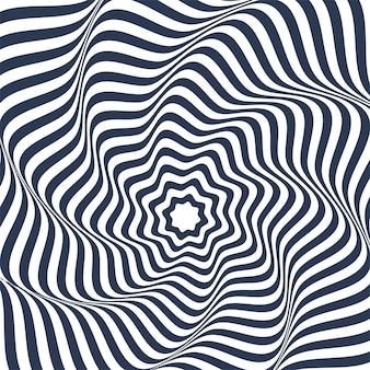 Abstrakcjonistyczny geometryczny wzór z zygzakowatymi liniami