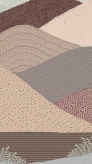 Abstrakcjonistyczny górski tło telefon komórkowy tapeta wektor