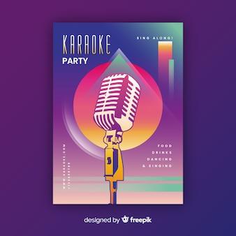 Abstrakcjonistyczny gradientowy karaoke plakata szablon