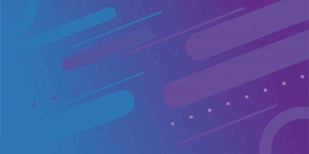 Abstrakcjonistyczny gradientowy tło z memphis elementem