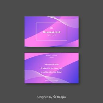 Abstrakcjonistyczny gradientowy wizytówka szablon