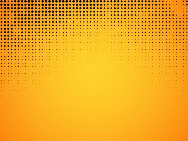 Abstrakcjonistyczny halftone koloru żółtego tło