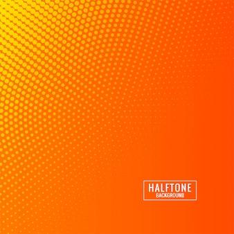Abstrakcjonistyczny halftone pomarańczowy i yallow tło