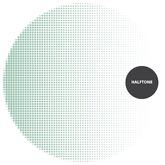 Abstrakcjonistyczny halftone projekta element na białym tle