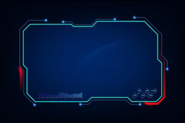 Abstrakcjonistyczny hud ui gui przyszłościowy futurystyczny ekranowego systemu wirtualny tło