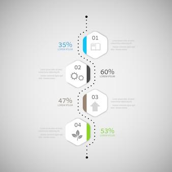 Abstrakcjonistyczny infographic projekt