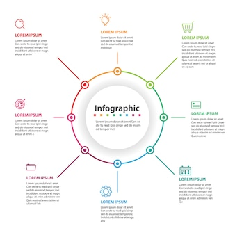Abstrakcjonistyczny infographic, wektorowa ilustracja