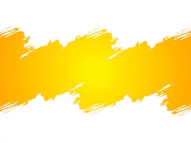 Abstrakcjonistyczny jaskrawy żółty grunge tło
