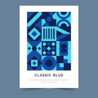 Abstrakcjonistyczny klasyczny błękitny plakatowy szablonu pojęcie