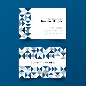 Abstrakcjonistyczny klasyczny błękitny wizytówka szablon