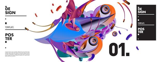 Abstrakcjonistyczny kolorowy ciecz i rzadkopłynny kształta tło