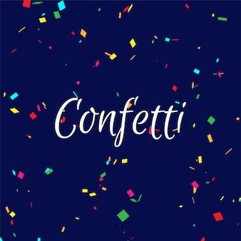 Abstrakcjonistyczny kolorowy confetti tło