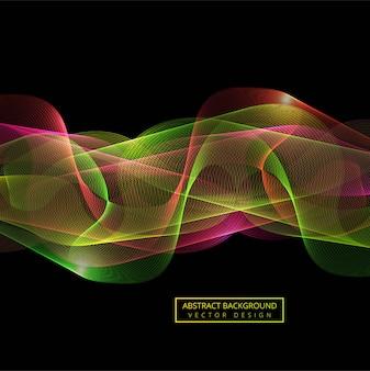 Abstrakcjonistyczny kolorowy dym fala tło