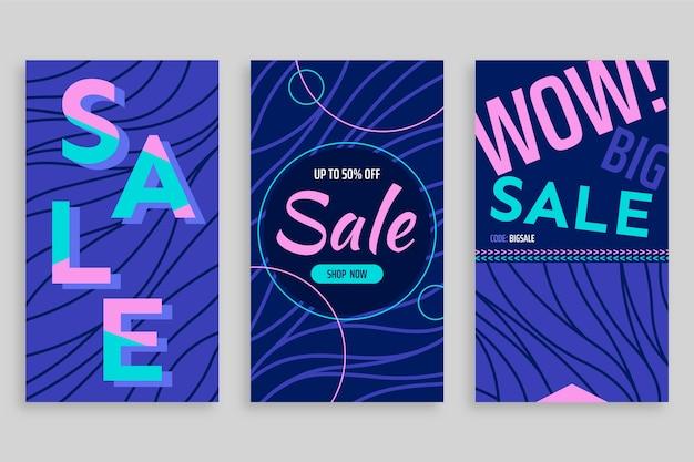 Abstrakcjonistyczny kolorowy instagram sprzedaży opowieści temat