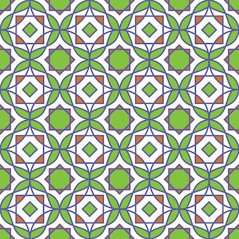 Abstrakcjonistyczny kolorowy islamski wzór