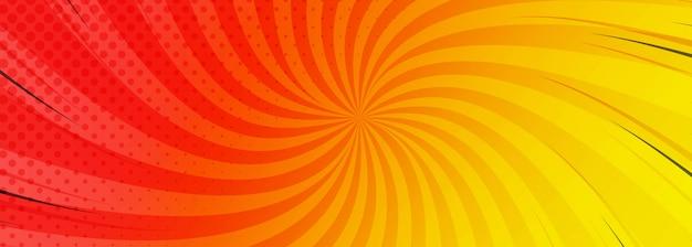 Abstrakcjonistyczny kolorowy komiczny sztandaru tło