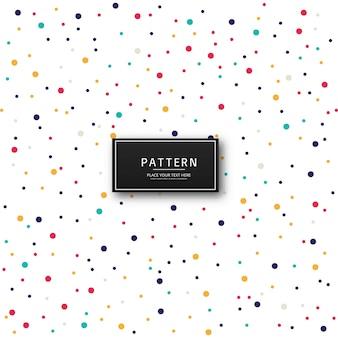 Abstrakcjonistyczny kolorowy kropkowany tło wektor