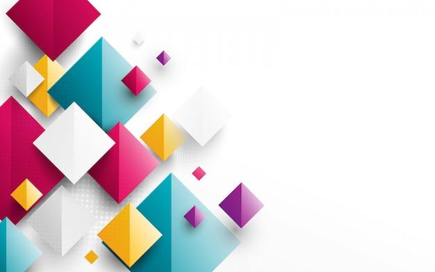 Abstrakcjonistyczny kolorowy prostokąta 3d tło