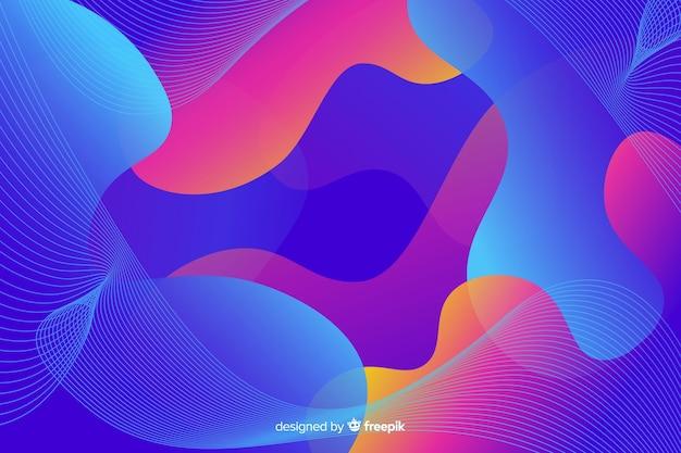 Abstrakcjonistyczny kolorowy przepływ kształtuje tło