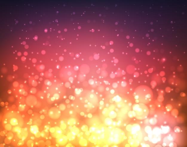 Abstrakcjonistyczny kolorowy zamazany tło z światłami i bokeh