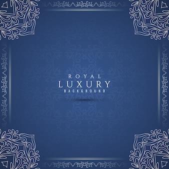 Abstrakcjonistyczny królewski luksusowy artystyczny błękitny tło