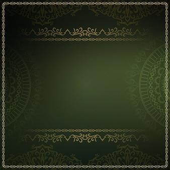 Abstrakcjonistyczny królewski luksusowy ciemnozielony tło