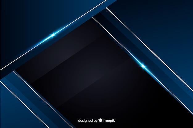 Abstrakcjonistyczny kruszcowy błękitny dekoracyjny tło