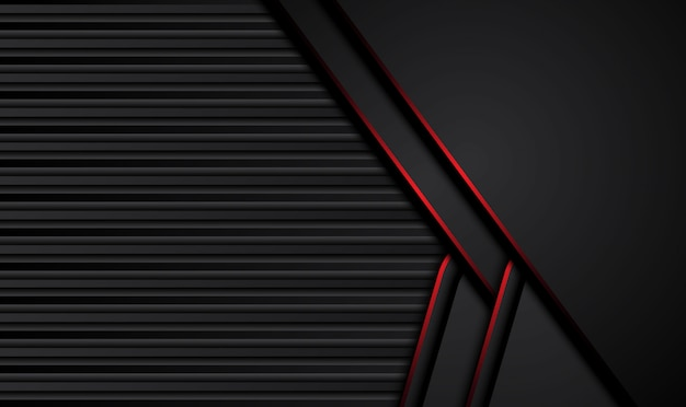 Abstrakcjonistyczny kruszcowy czerwony czarny projekt techniki innowaci pojęcia tło.