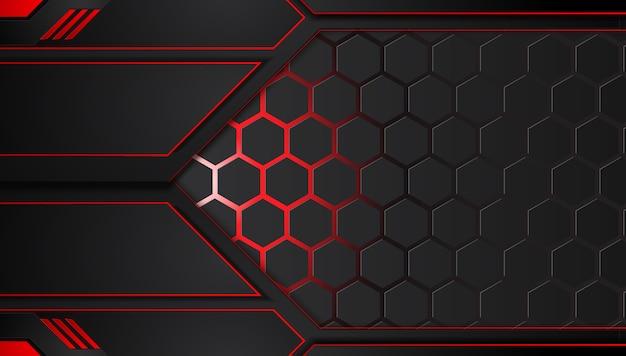 Abstrakcjonistyczny kruszcowy czerwony czarny tło z kontrastów paskami