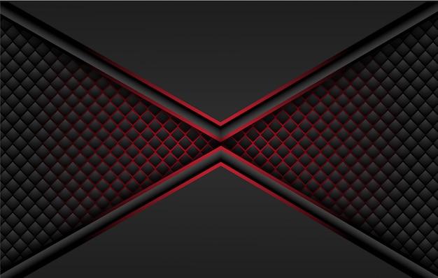 Abstrakcjonistyczny kruszcowy czerwony czerni ramy układu projekta techniki innowaci pojęcia tło.