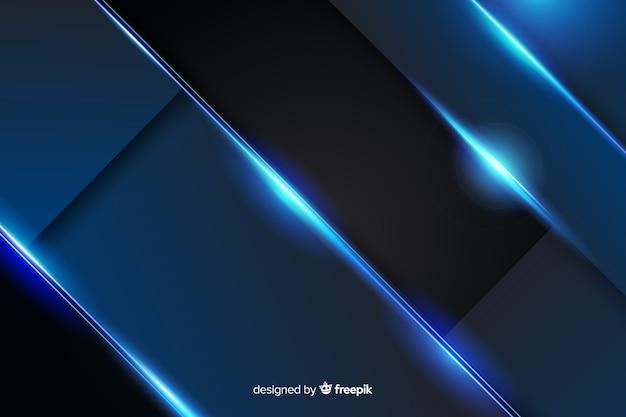 Abstrakcjonistyczny kruszcowy zmrok - błękitny tło